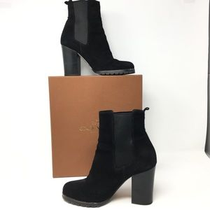 Coach oiled Odelle leather ankle boots